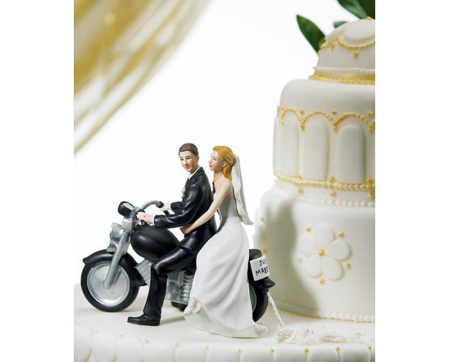 motorcycle couple wedding cake topper. Black Bedroom Furniture Sets. Home Design Ideas