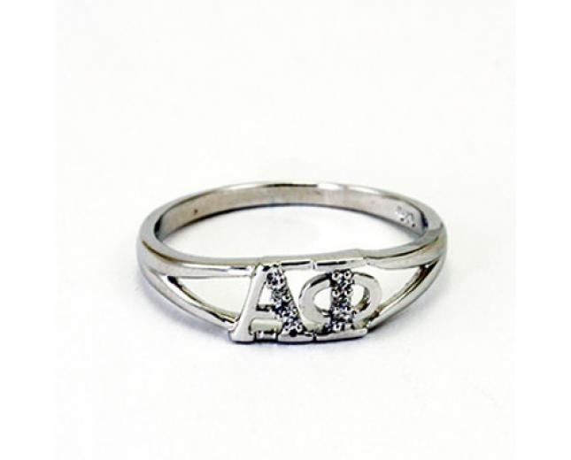 alpha phi greek letter ring with diamonds With greek letter rings