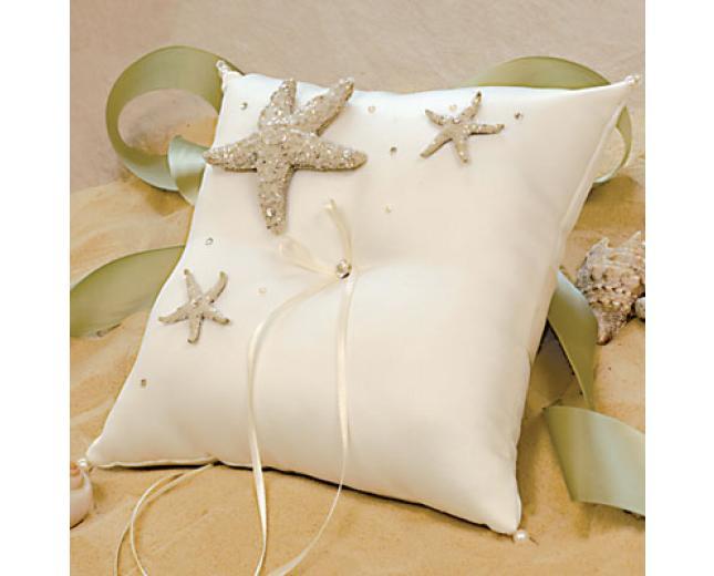 Beach Wedding Collection Ring Bearer Pillow Ivory