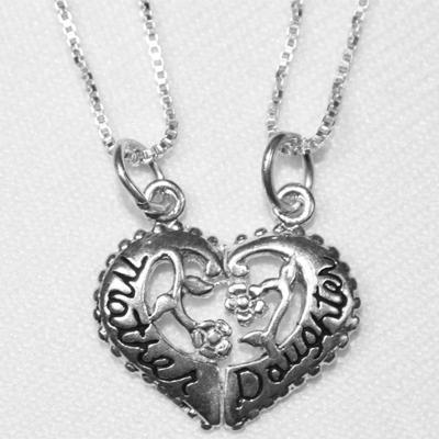 Mother And Daughter Breakaway Pendant Necklace Set