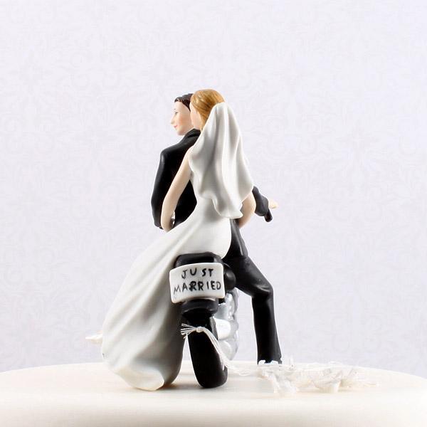 Motorcycle Couple Wedding Cake Topper