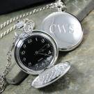 Personalized Engraved Silver Pocket Watch