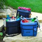 Royal Blue Cooler Tote with Cell Phone Holder