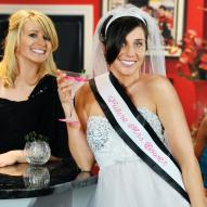 Bachelorette Party Personalized Sash &amp; Bridal Veil Set