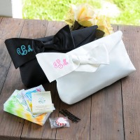 Personalized Bridesmaid Clutch Handbag with Wedding Survival Kit