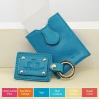 Rowallan Personalized Leather Keychain & Business Card Case Set