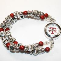 Texas A&M University Aggies Beaded Watch
