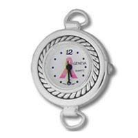 Round Rope Breast Cancer Awareness Pink Ribbon Watch Face