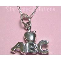 ABC Apple Charm Sterling Silver Necklace