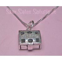 Autism Awareness Prayer Box Sterling Silver Necklace