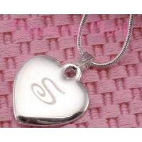 Personalized Engraved Silver Heart Charm Necklace