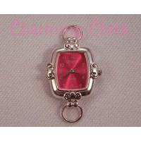 Red Rectangular Scroll Watch Face