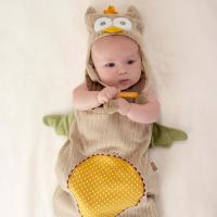 My Little Night Owl Newborn Baby Snuggle Sack and Cap